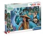 Clementoni 104 db-os Csillogó puzzle Raya és az utolsó sárkány