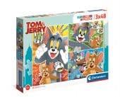 Clementoni 3x48 db-os SuperColor puzzle - Tom és Jerry