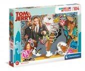 Clementoni 104 db-os SuperColor puzzle - Tom és Jerry